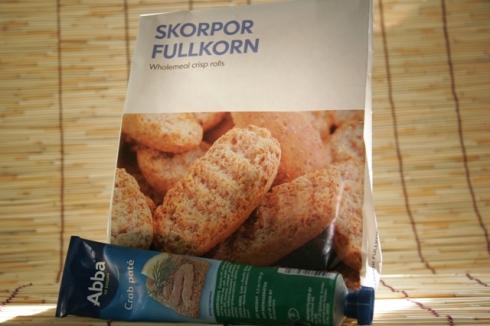 Ikea crisp bread and crab pate