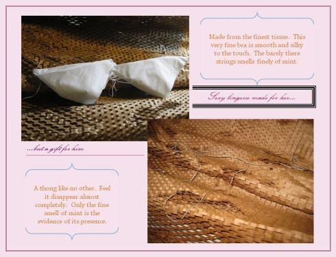 Tissue and Floss lingerie