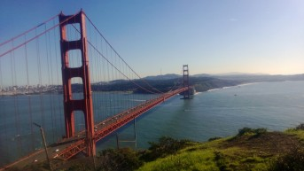 Golden Gate Bridge from Marin Co side