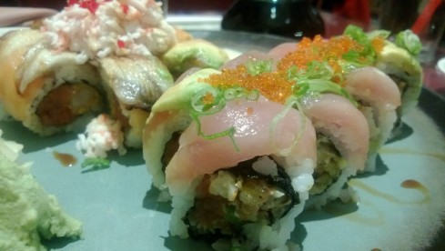 Totoro Roll and Pink Dragon Roll