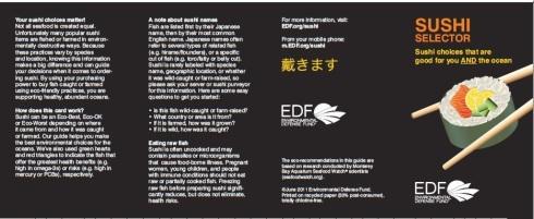 EDF sushi selector