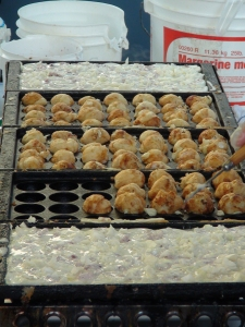 Takoyaki in the making