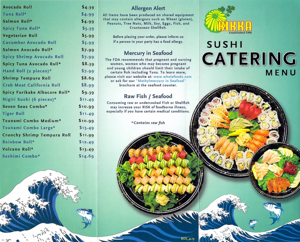 Japanese food chronic cravings for Asian cuisine catering