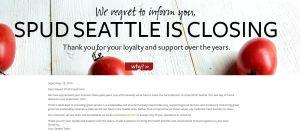 SPUD Seattle closes