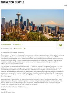 SPUD Seattle goodbye letter